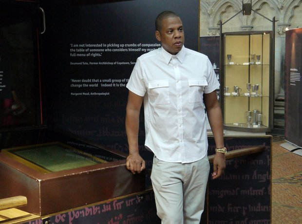 Jay Z checks outside original Magna Carta