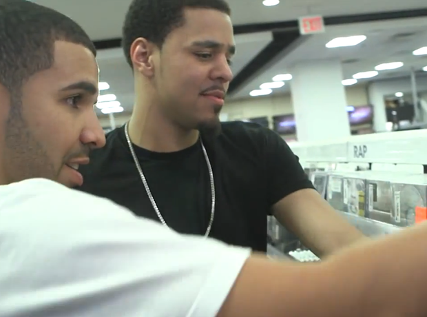 Drake and J. Cole in Best Buy