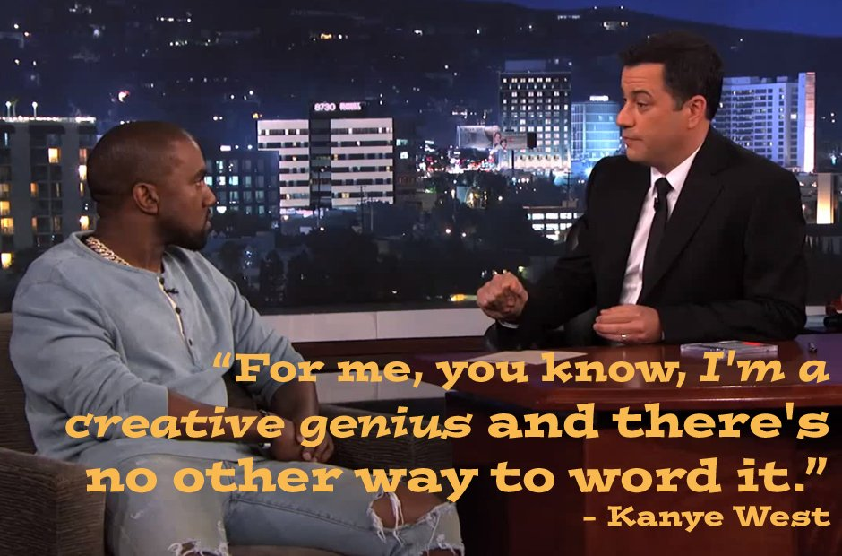 Kanye West quote on Jimmy Kimmel
