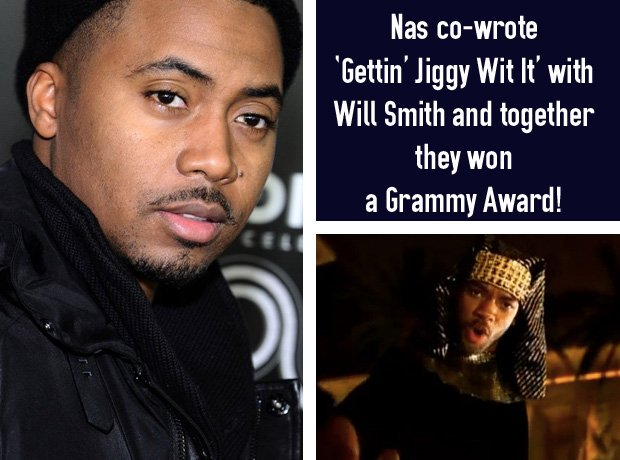Nas co-wrote Will Smith's Gettin Jggy Wit It