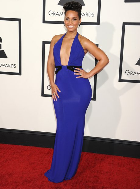 Alicia Keys in blue gown