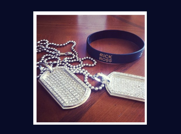 Rick Ross Instagram dog tags