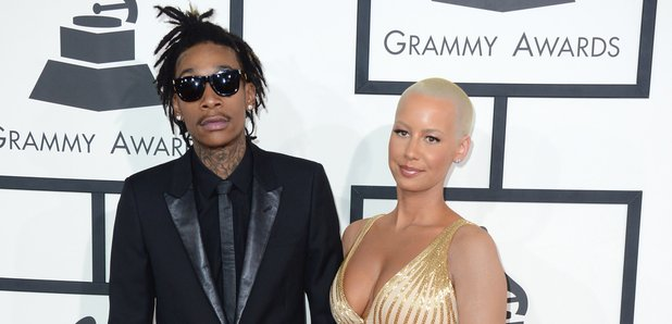 Wiz Khalifa and Amber Rose at the Grammy Awards 20