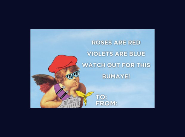 Major Lazer Valentines Cards