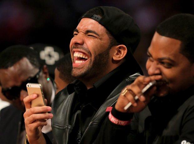 Drake laughing
