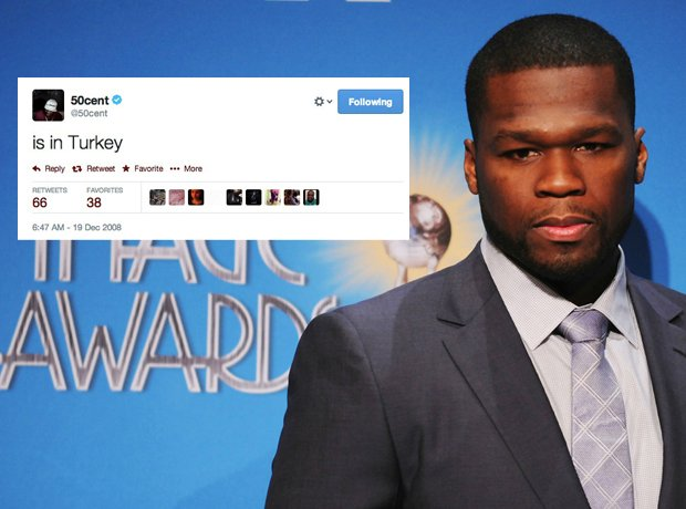 50 Cent first tweet