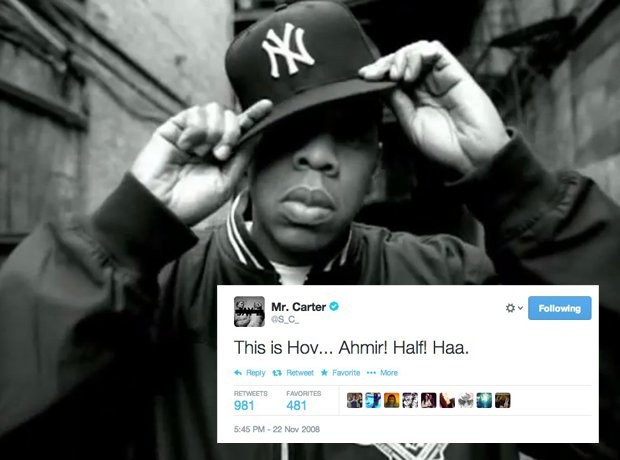 Jay Z first tweet