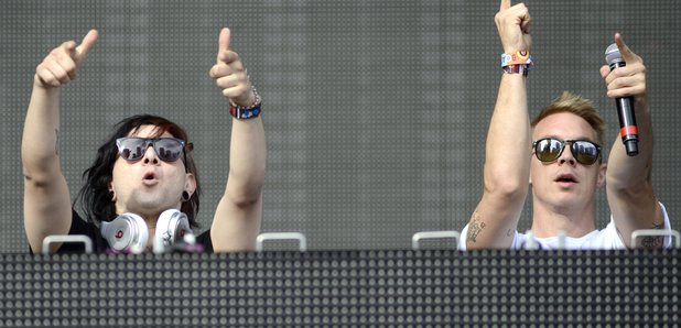 Skrillex and Diplo at the Ultra Music Festival
