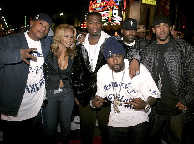 G-Unit posing with Young Buck