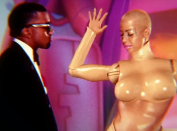 Kanye West And Amber Rose In Robocop VIdeo