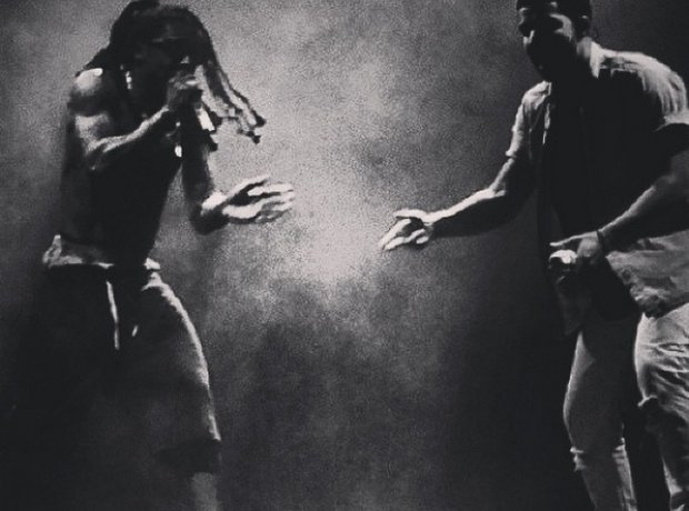 Drake and Lil Wayne on Vs tour