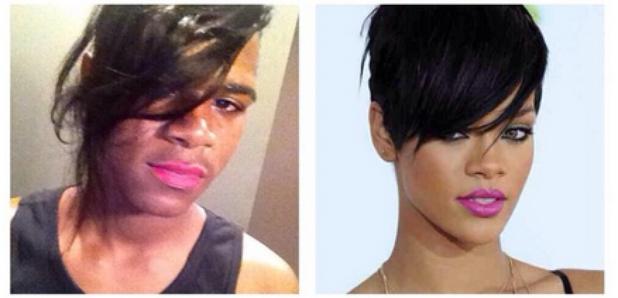 Rihanna make-up transformation