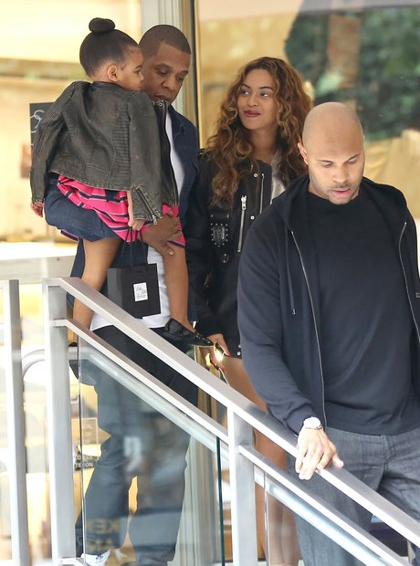Jay Z, Blue Ivy and Beyonce