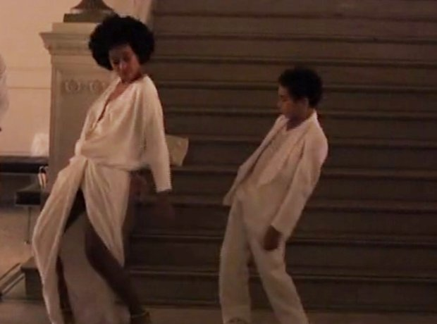 Solange and her son dancing