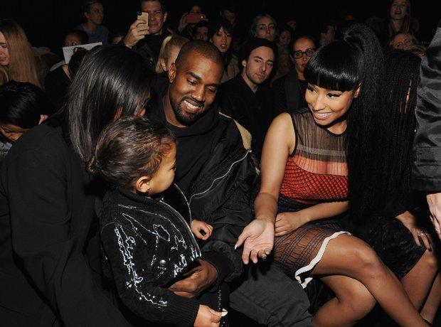 Kim Kardashian, North West, Kanye West and Nicki M