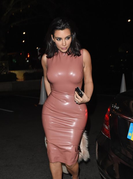 Kim Kardashian Rubber Dress