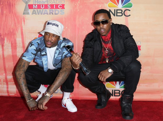 YG and Jeremih iHeartRadio Awards Red Carpet 2015