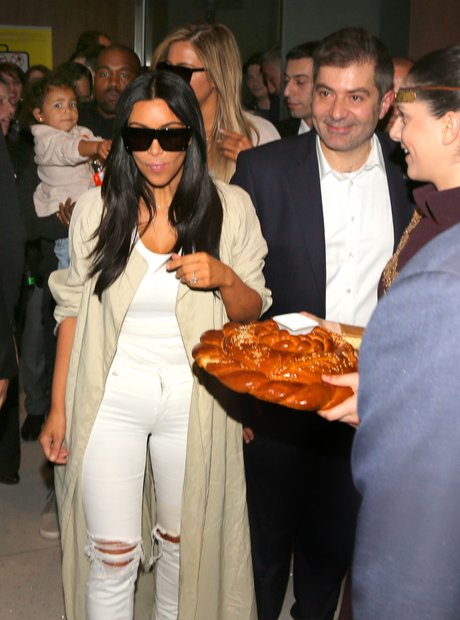 Kim Kardashian Eating Bread
