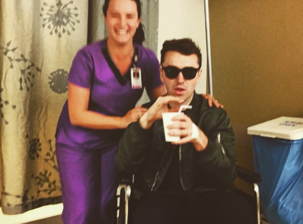 Sam Smith recovers.