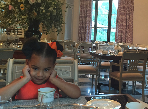 blue ivy certainly liked the breakfast - Blue Restaurant 2015