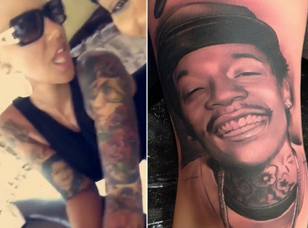 Amber Rose Wiz Khalifa tattoo