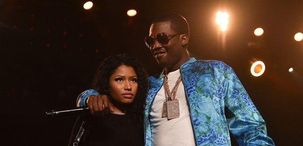 Nicki Minaj and Meek Mill onstage