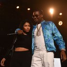 Nicki Minaj and Meek Mill onstage