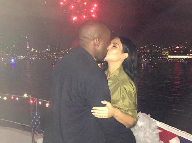 Kanye West Kim Kardashian 4th July