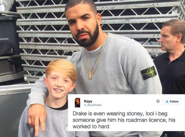 Stone Island Signs Drake