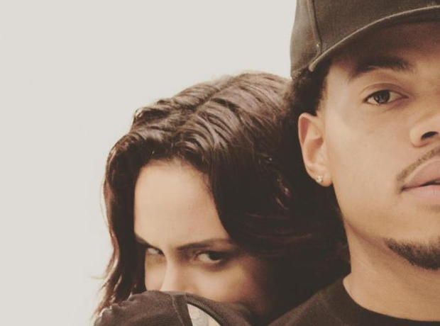 Chance The Rapper and Kehlani close up