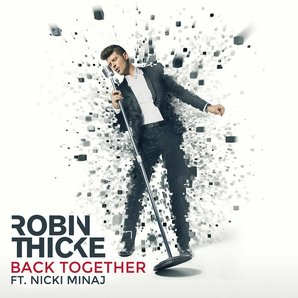 "Robin Thicke in the cover art for ""Back Together"""