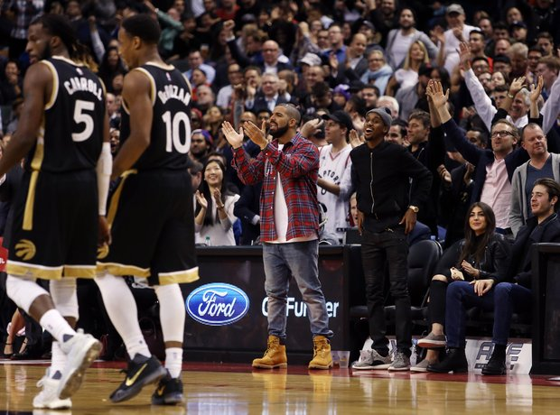 Drake Cleveland Cavaliers v Toronto Raptors Canada