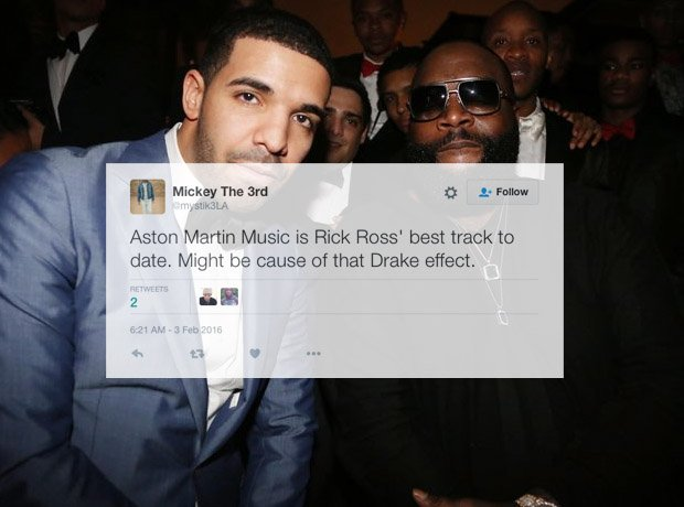 Drake sat next to Rick Ross