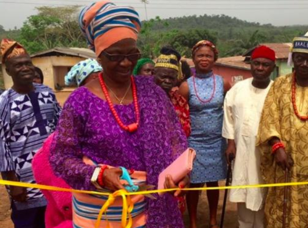 Skepta's mum open playground in Nigeria