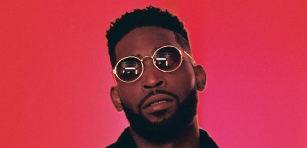 Tinie Tempah wearing glasses