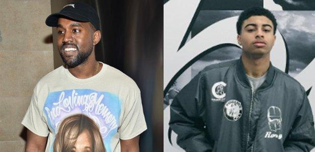 Kanye West next to Rory Fresco