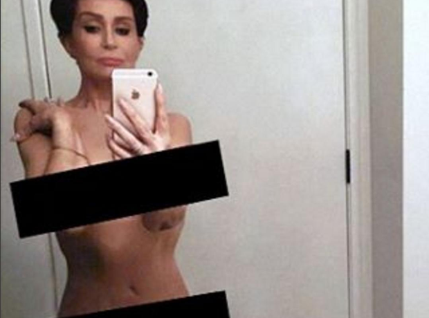 Sharon Osbourne naked selfie