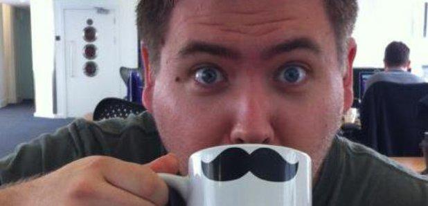 Ben Ryder drinking cup of tea