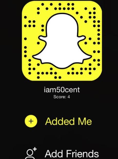 50 Cent's snapchat logo