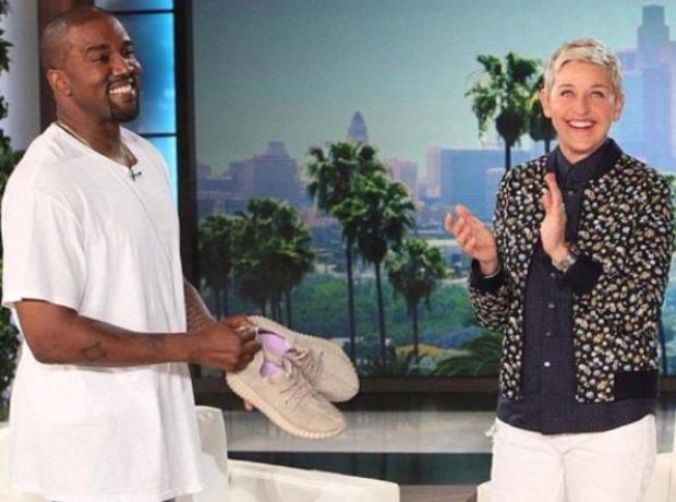 Kanye West Ellen Yeezy