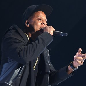 Jay Z Performing on stage