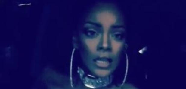 Rihanna Using Beauty Snapchat Filter