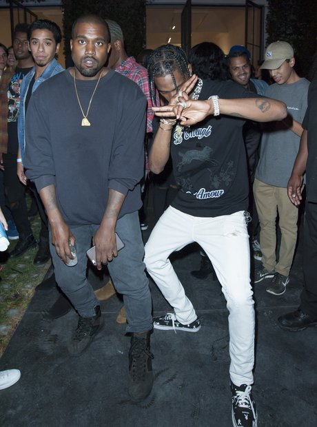 Travis Scott and Kanye West Music Video Premiere P