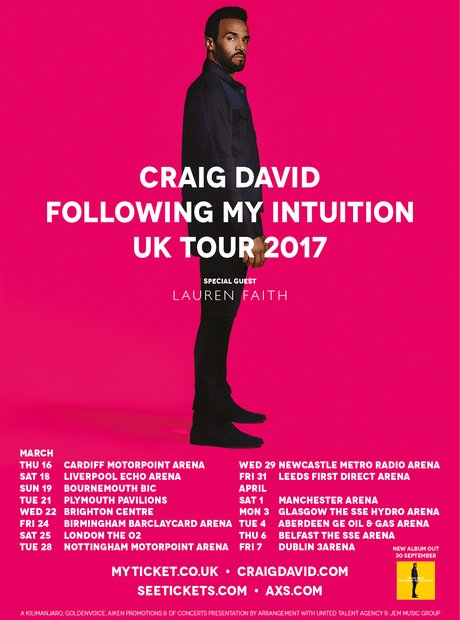 Craig David 'Following My Intuition' Tour 2017