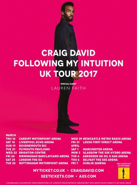 Craig David 'Following My Intuition' Tour 2017