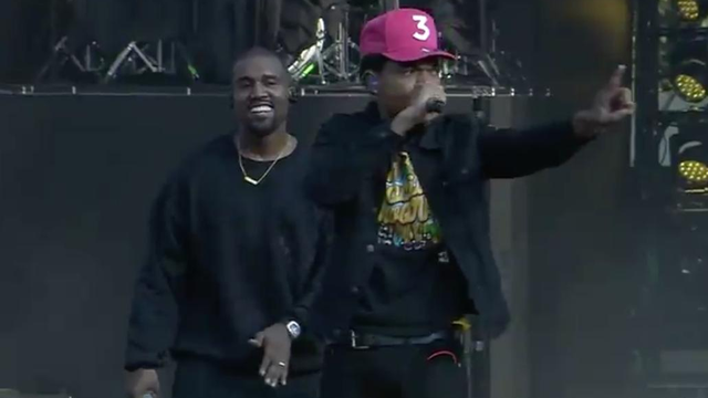 watch kanye west s surprise performance at chance the rapper s music festival capital xtra. Black Bedroom Furniture Sets. Home Design Ideas