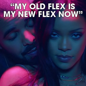 Drake Rihanna square lyrics