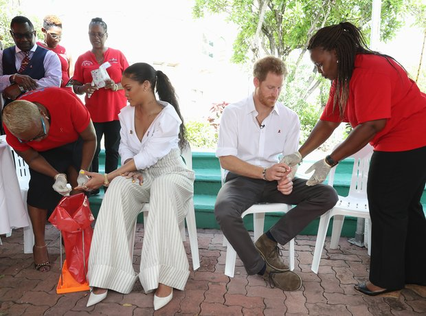 Rihanna and Prince Harry take HIV Test