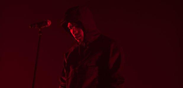 Skepta performs at Alexandra Palace