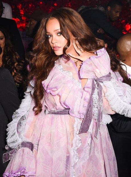 Rihanna during New York Fashion Week